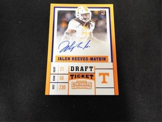 Jalen Reeves Maybin Signed DraftTicket Rookie Card