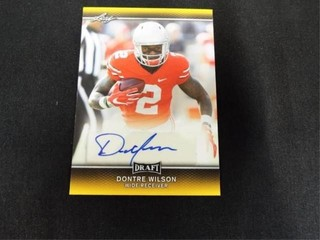Dontre Wilson Signed Draft Football Trading Card