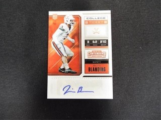 Quin Blanding College Ticket Rookie Football Card