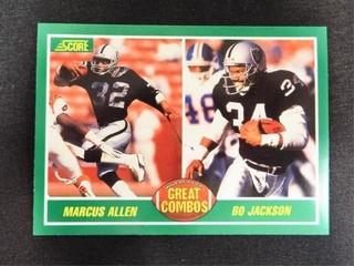 Marcus Allen   Bo Jackson GreatCombo Football Card