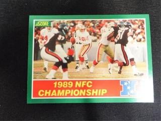 1989 NFC Championship Football Trading Card