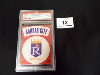 1968 72 Fleer Team logo KC Royals Cloth Patch
