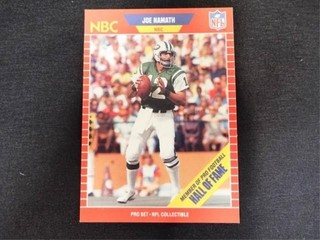 Joe Namath Hall of Fame Football Trading Card