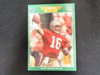 Joe Montana Pro Set Football Trading Card