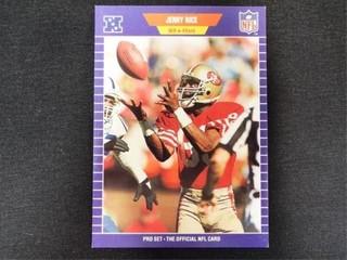 Jerry Rice Pro Set Football Trading Card