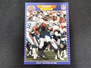 Dan Marino Pro Set Football Trading Card