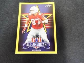 Nick Bosa Draft All American Football Trading Card