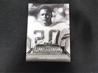 Barry Sanders Draft 1989 Flashback Football Card