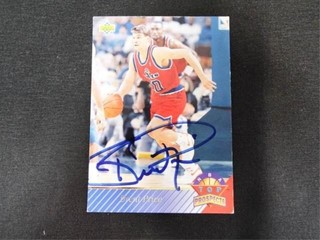 Brent Price Signed NBA Top Prospects Trading Card