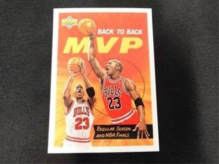 Michael Jordan Back to Back MVP Basketball Card