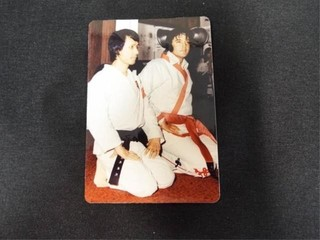 Elvis Presley   Kang Rhee Photo  Signed on Back