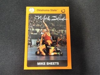 Mike Sheets Signed Oklahoma State Wrestling Card