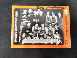 Bob Kurland Signed Okla State  45 Basketball Champ
