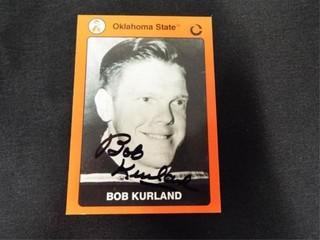 Bob Kurland Signed Oklahoma State Basketball Card