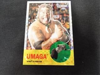 UMAGA X Fractor WWE Wrestling Card