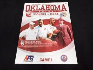 Oklahoma Game Day Program 9 3 2011  Game 1