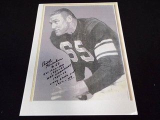 Bill Krisher Signed  with Stats  Photographs