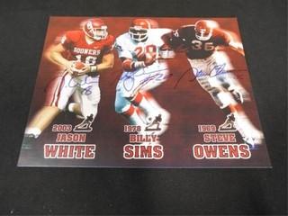 Oklahoma Heisman Trophy Winner Print w Signatures