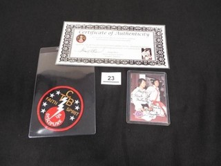 1992  Elvis Collection  Signed Card   TCB Patch
