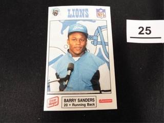 1989 lions  Barry Sanders Card