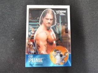 CM Punk WWE Superstar Heritage Trading Card