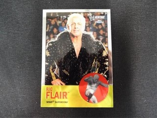 Ric Flair WWE Superstar Heritage Trading Card