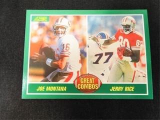 Joe Montana   Jerry Rice Great Combo Football Card