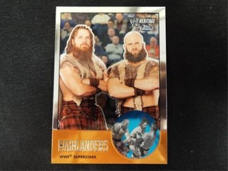 Highlanders WWE Superstar Heritage Trading Card