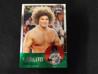Carlito WWE Superstar Heritage Trading Card