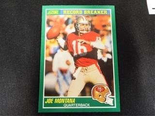 Joe Montana Record Breaker Football Trading Card