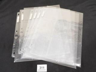 Card Protector Sleeves  6  9 slot sheets