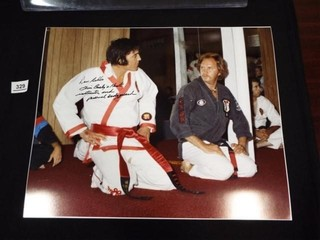 Photo of Elvis Presley and Dave Hebler  16  x 20