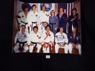 Photo of Elvis  Karate Class  Several Signatures