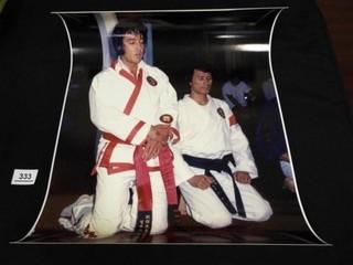 Photo of Elvis Presley   Kang Rhee at Karate