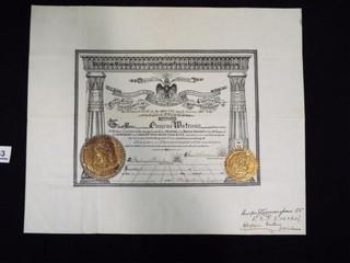 Scottish Rite Certificate dated Jan 23  1902