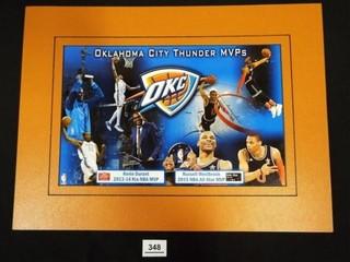 Oklahoma City Thunder MVP s Matted Print