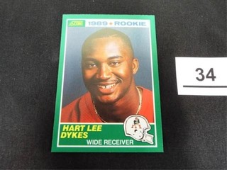 Hart lee Dykes 1989 Rookie Trading Card