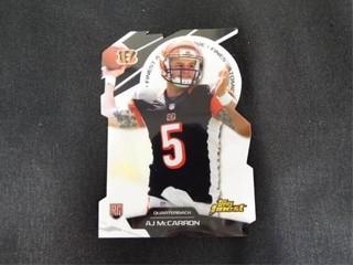 AJ McCarron Refractor Rookie Football Trading Card