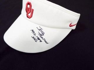 Signed OU Nike Visor Cap