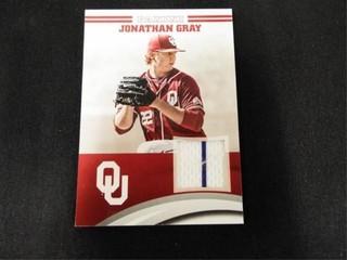 Jonathan Gray Player Worn Material Baseball Card