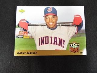 Manny Ramirez Top Prospect Baseball Trading Card
