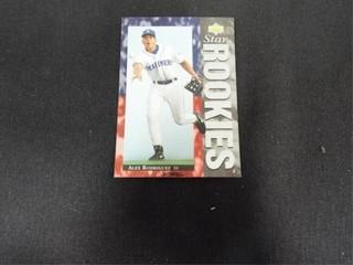 Alex Rodriguez Star Rookies Baseball Trading Card