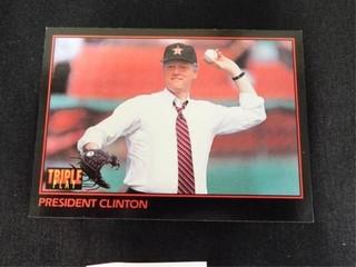 President Clinton Triple Play Baseball Trading Car