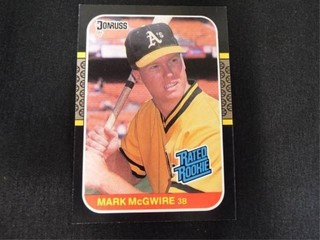 Mark McGwire Rated Rookie Baseball Trading Card