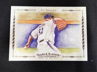 CC Sabathia Allen   Ginter s Baseball Trading Card