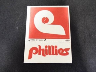 Phillies Peel Off Cloth Sticker Trading Card