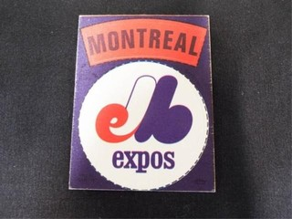 Montreal Expos Peel Off Cloth Sticker Trading Card
