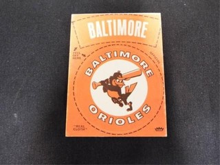 Baltimore Orioles Peel Off Cloth Sticker Card