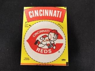 Cincinnati Reds Peel Off Cloth Sticker Card