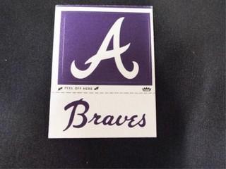 Braves Peel Off Cloth Sticker Trading Card